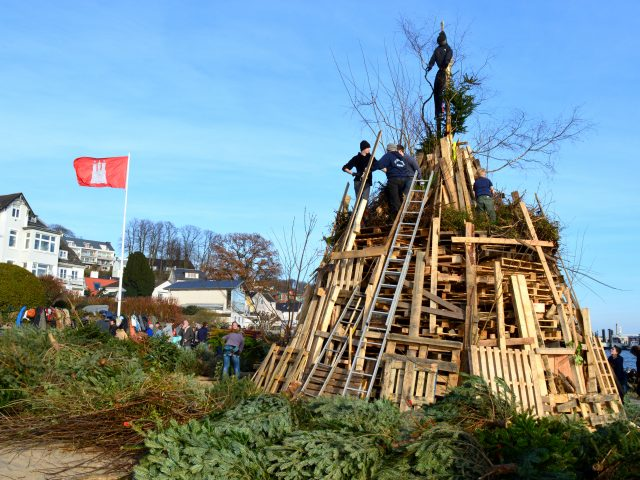 Easter Bonfires in Blankenese, Germany